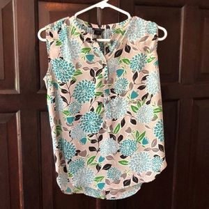 Ann Taylor Floral Sleeveless Top